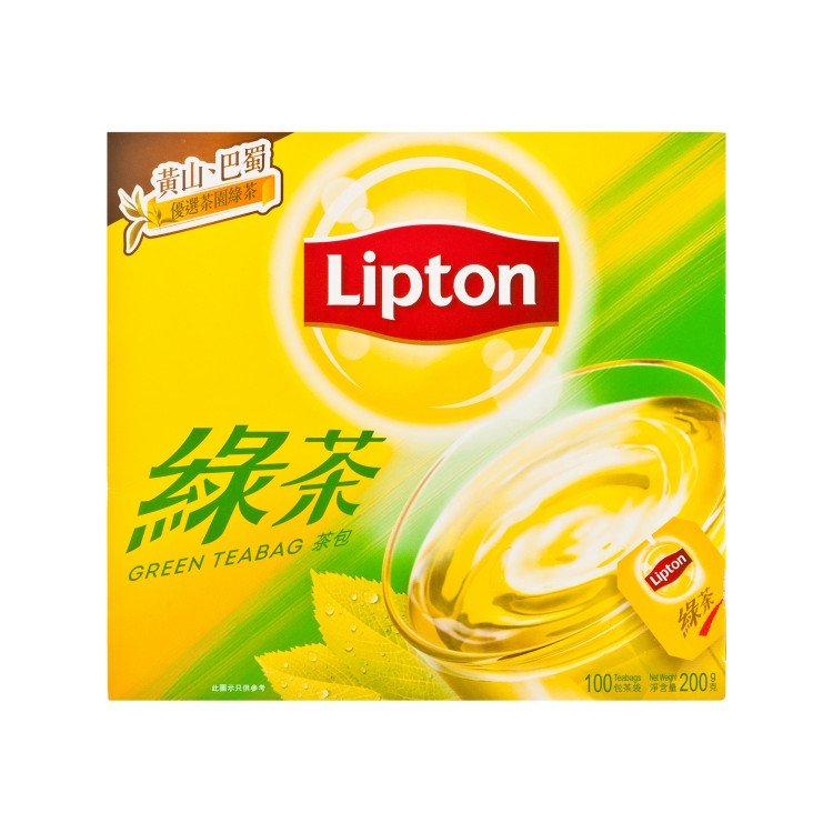 LIPTON - ASIAN TEA GREEN TEABAG - 2GX100