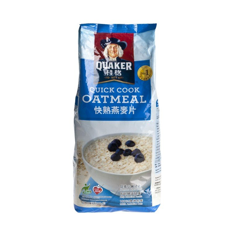QUAKER - QUICK COOKING OATMEAL(FOIL) - 800G