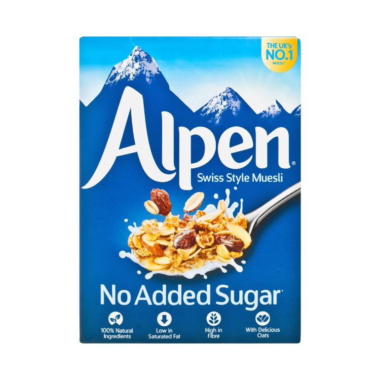 ALPEN - MUESLI-NO SUGAR ADDED - 560G