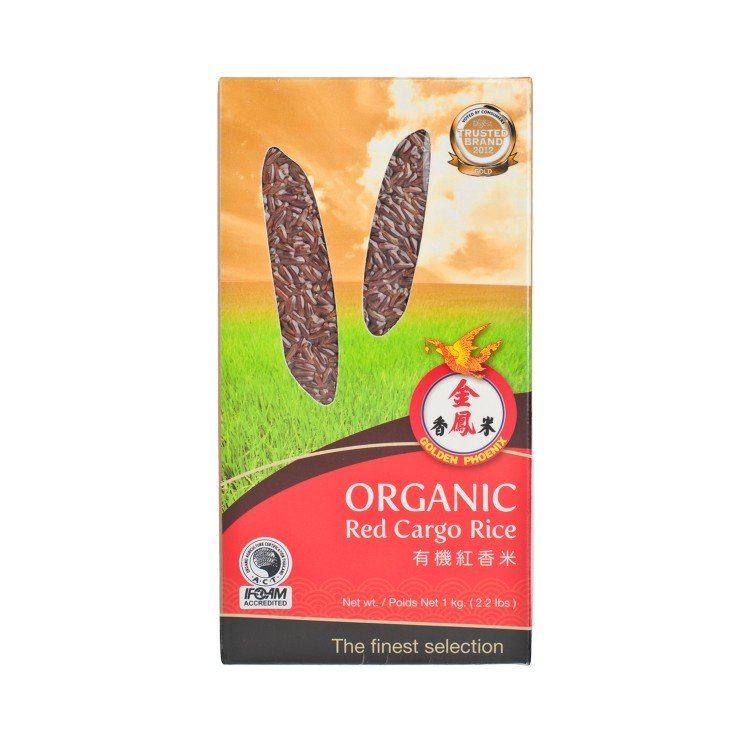 GOLDEN PHOENIX - ORGANIC RED JASMINE RICE - 1KG