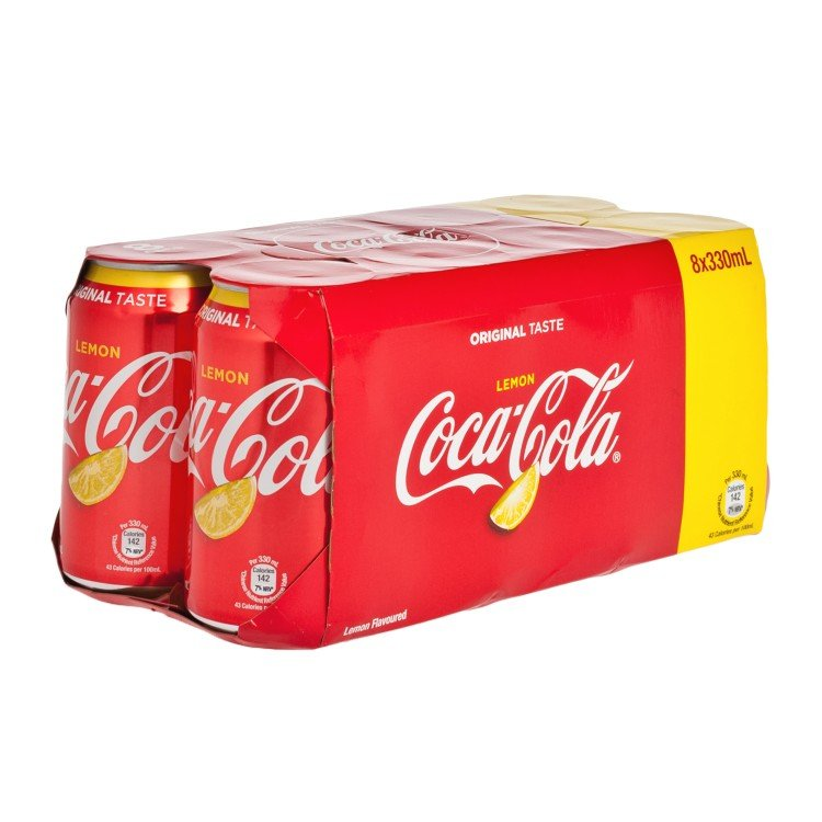 COCA-COLA - LEMON COKE - 330MLX8