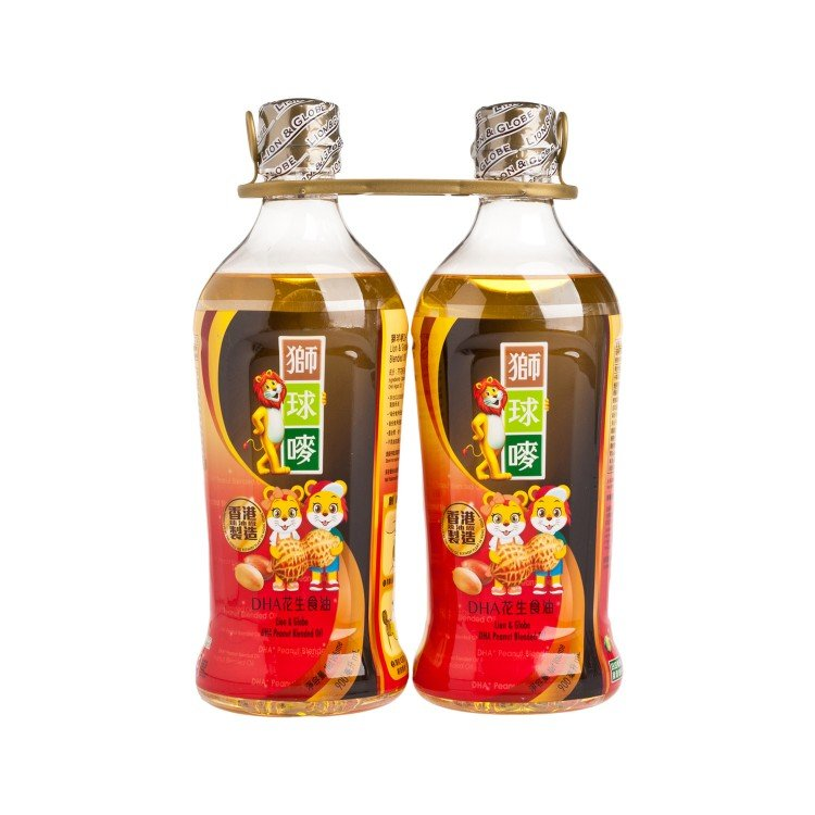 LION & GLOBE - DHA PEANUT BLENDED OIL - 900MLX2