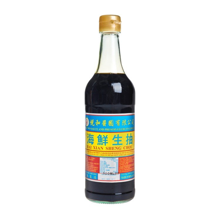YUET WO - SEAFOOD LIGHT SOY SAUCE - 500ML