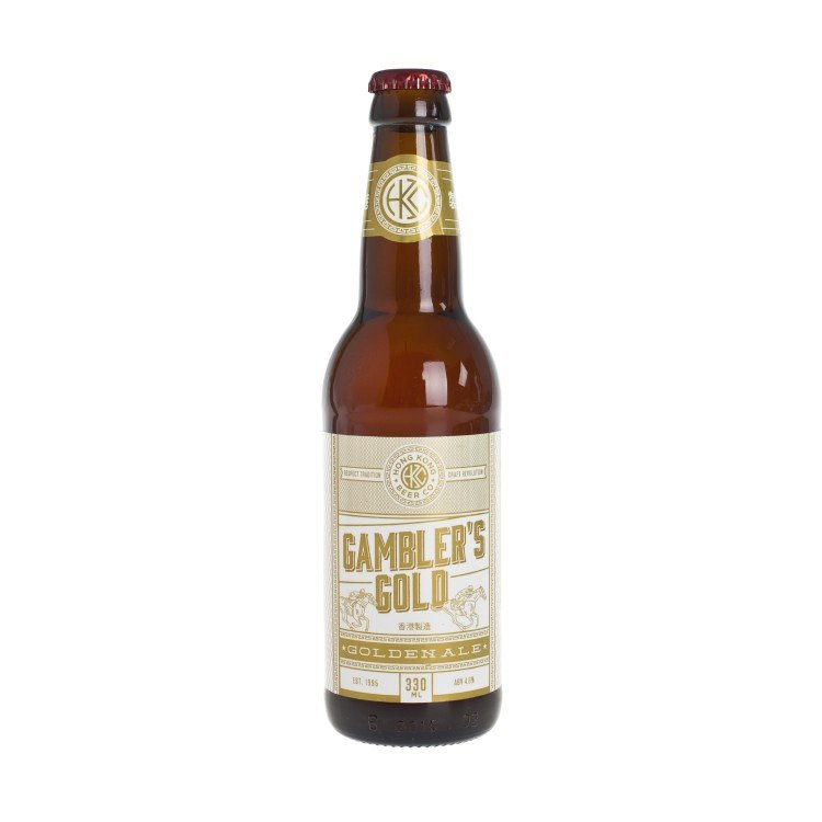 HONG KONG BEER - GAMBLER'S GOLD-GOLDEN ALE - 330ML