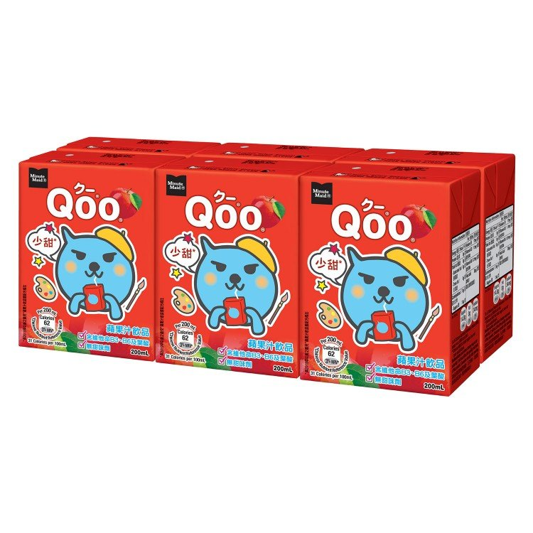 MINUTE MAID QOO - APPLE JUICE DRINK - 200MLX6