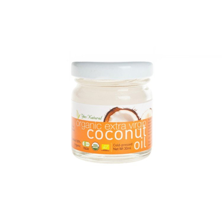 YES NATURAL - ORGANIC COLD PRESSED EV COCONUT OIL - 30ML
