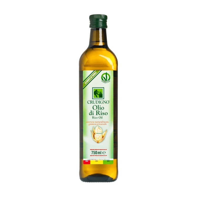 CRUDIGNO - ITALIAN RICE BRAN OIL - 750ML