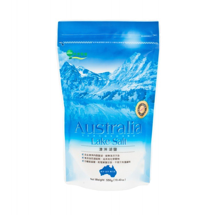 PEACE & HEART - AUSTRALIAN NATURAL LAKE SALT - 550G