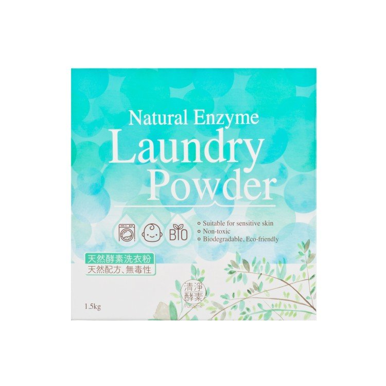 NATURAL ENZYME - NATURAL ENZYME LAUNDRY POWDER - 1.5KG