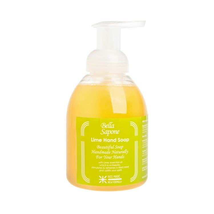 BELLA SAPONE - HAND SOAP BUBBLE PUMP-LIME - 500ML