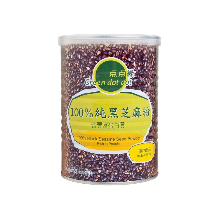 GREEN DOT DOT - 100% BLACK SESAME SEED POWDER - 400G