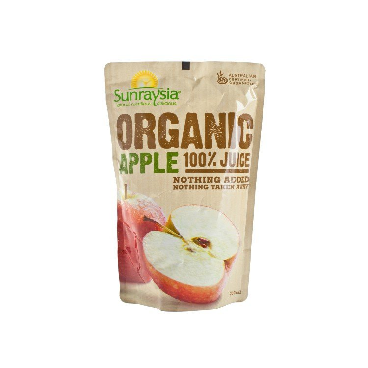 SUNRAYSIA - ORGANIC APPLE JUICE - 200ML