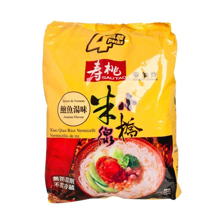 SAU TAO - XIAO QIAO RICE VERMICELLI-ABALONE SOUP FLAVOURED - 215GX4