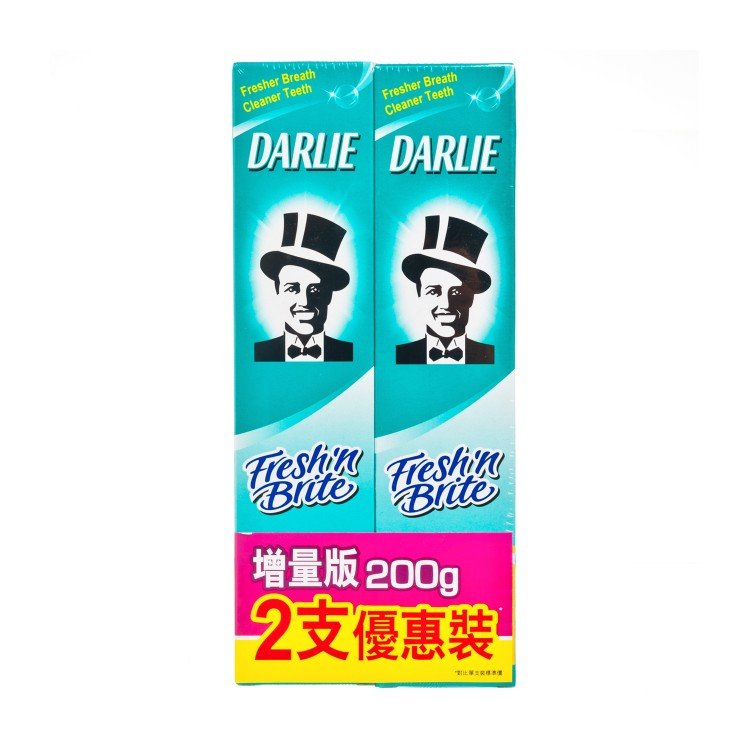 DARLIE - FRESH'N BRITE TOOTHPASTE PACKAGE - 200GX2