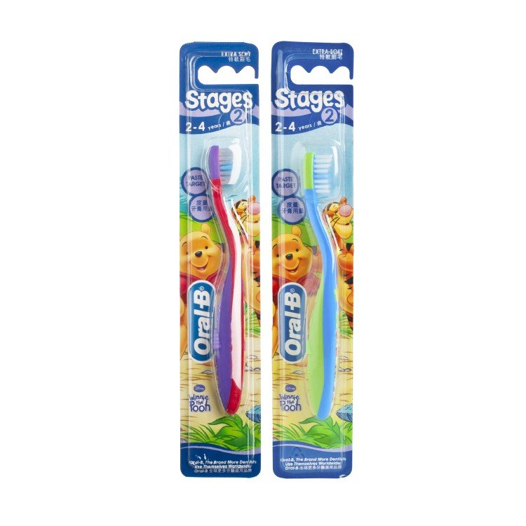 ORAL B - STAGES 2 CHILD TOOTHBRUSH-RANDOM ONE - PC