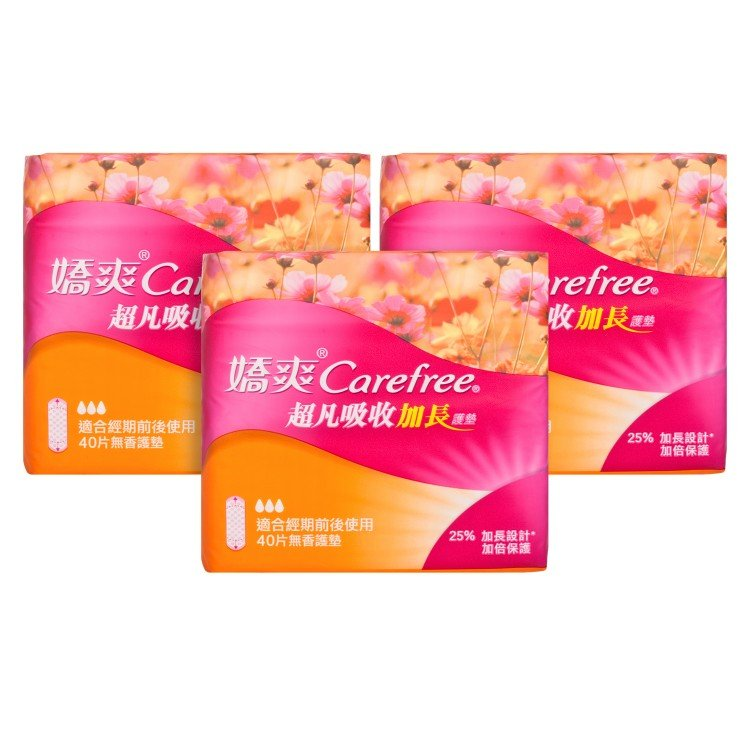 CAREFREE嬌爽 - SUPER ABSORB PANTILINER-LONG - 40'SX3
