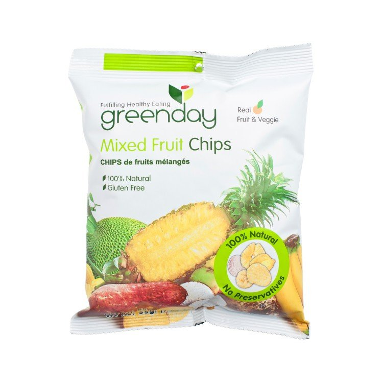 GREENDAY - MIXED FRUIT CHIPS - 55G