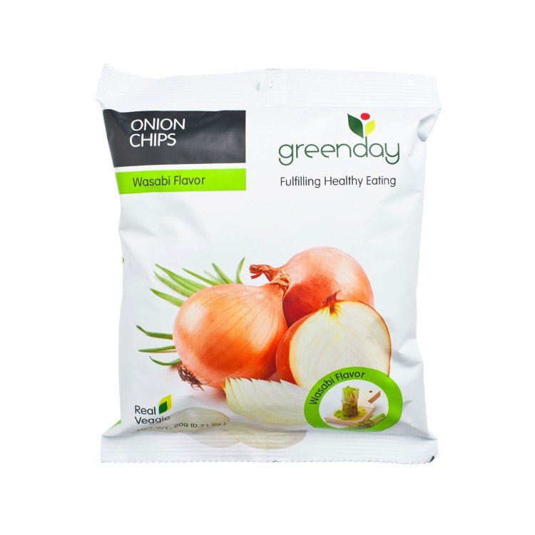 GREENDAY - ONION WITH WASABI CHIPS - 20G
