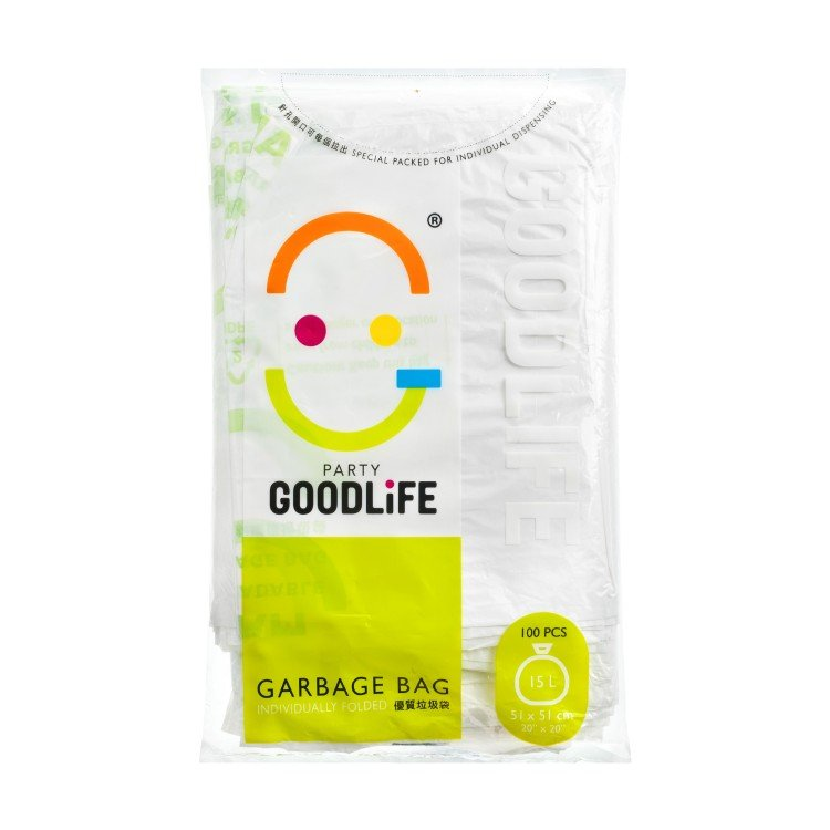 GOODLIFE - 15L DEGRADABLE GARBAGE BAG - 100'S