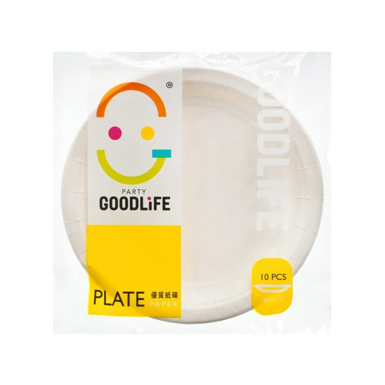 "GOODLIFE - 7"" PAPER PLATE - 10'S"