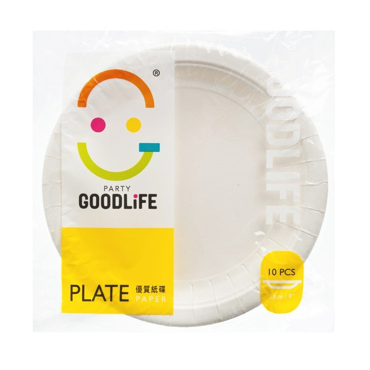 """GOODLIFE - 9"""" PAPER PLATE - 10'S"""