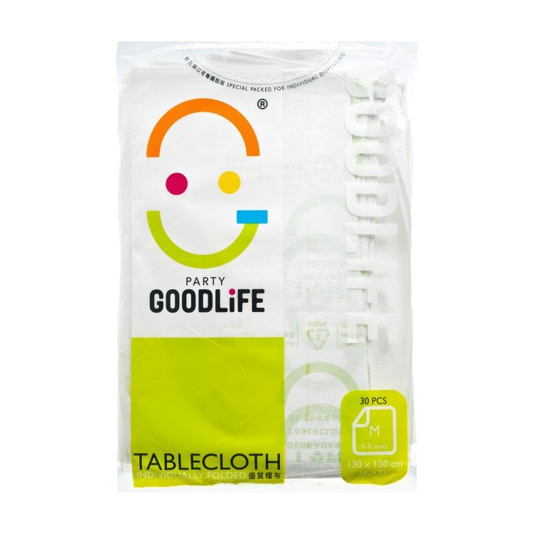 "GOODLIFE - 51"" DEGRADABLE PLASTIC TABLE CLOTH  - 30'S"