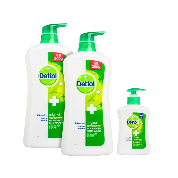 DETTOL - BODY WASH(TWINPACK WITH PREMIUM)-PINE - SET