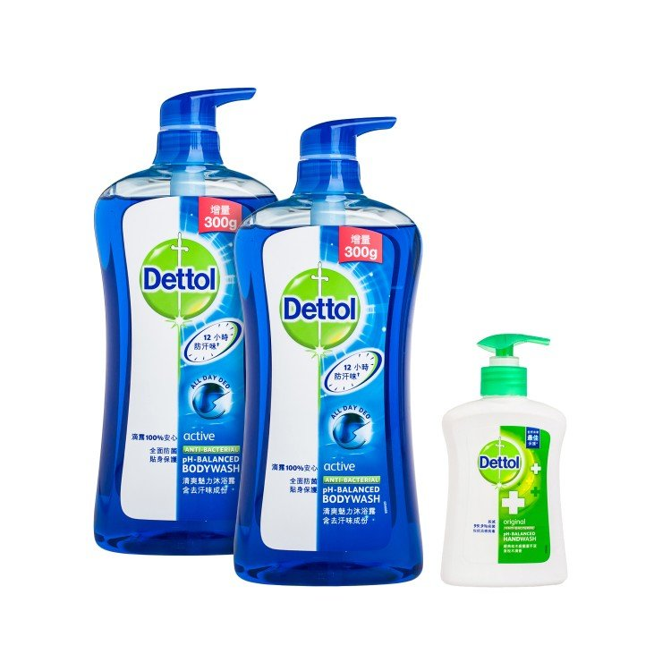 DETTOL - BODY WASH(TWINPACK WITH PREMIUM)-ACTIVE  - SET
