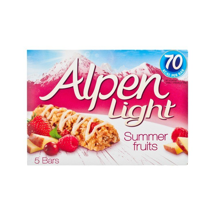 ALPEN - LIGHT CEREAL BAR-SUMMER FRUITS - 19GX5