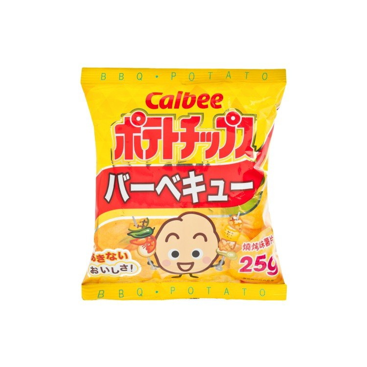 CALBEE - POTATO CHIPS-BBQ FLAVOUR - 25G