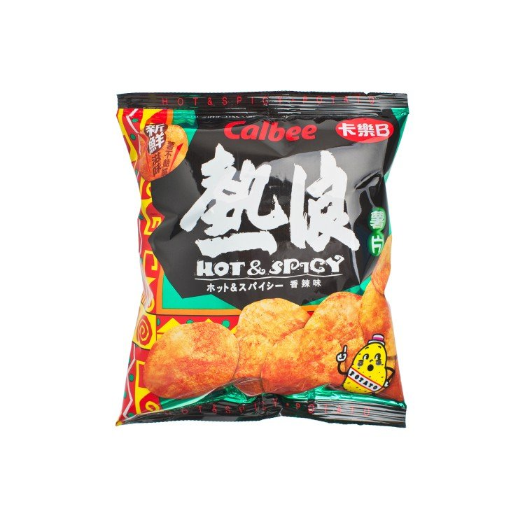 CALBEE - POTATO CHIPS-HOT & SPICY FLAVOUR - 25G