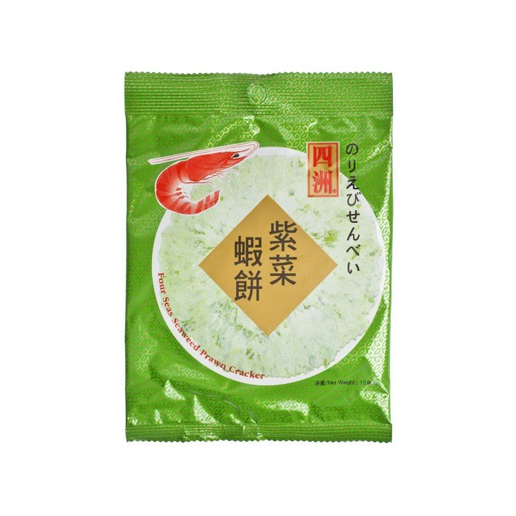 FOUR SEAS - PRAWN CRACKER-SEAWEED - 15G