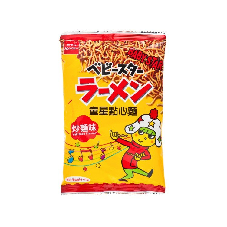 BABY STAR - SNACK NOODLE-YAKISOBA FLAVOUR - 41G