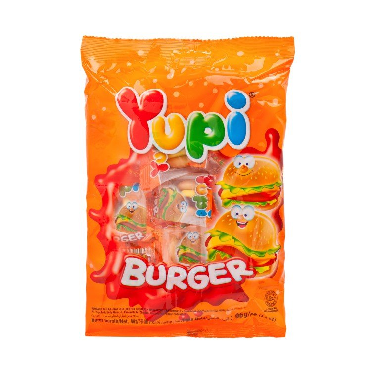 YUPI - GUMMI CANDY-MINI BURGER - 96G