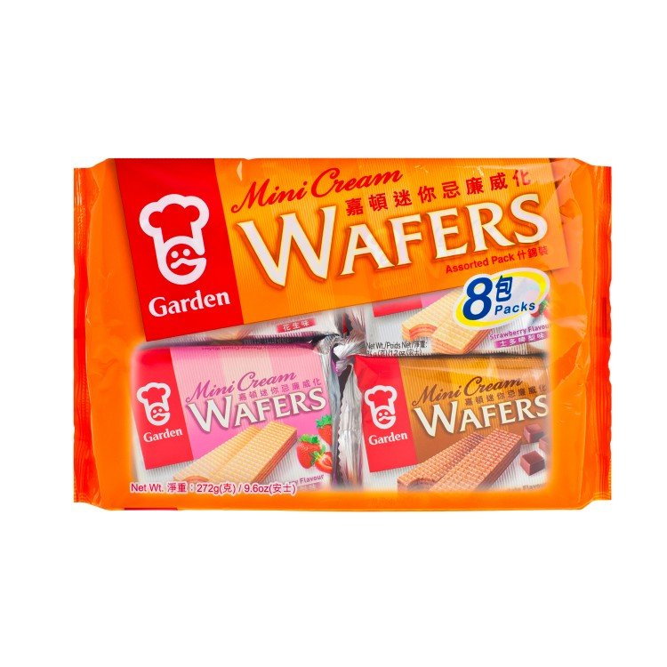 GARDEN - MINI CREAM WAFERS-ASSORTED PACK - 272G