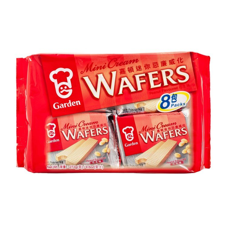 GARDEN - MINI CREAM WAFERS-PEANUT FLAVOURED - 272G