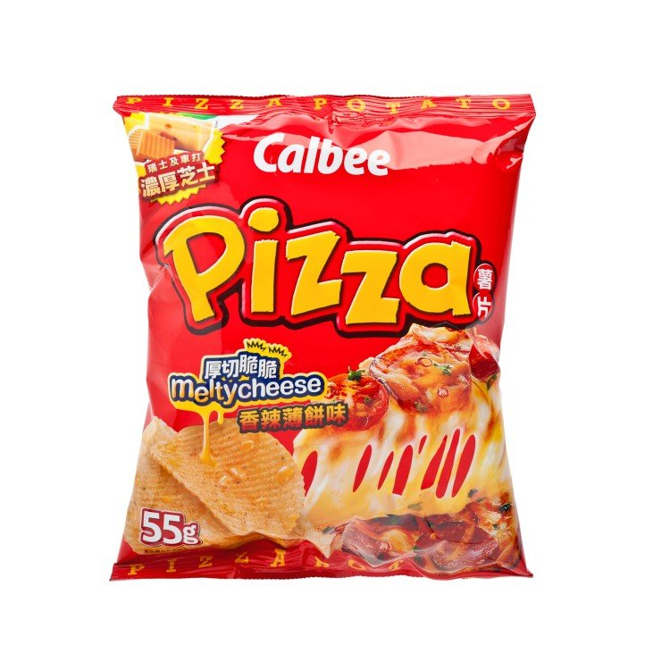 CALBEE - POTATO CHIPS-SPICY PIZZA FLAVOUR - 55G