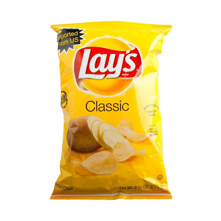 LAY'S - POTATO CHIPS-REGULAR FLAVORED - 77.9G