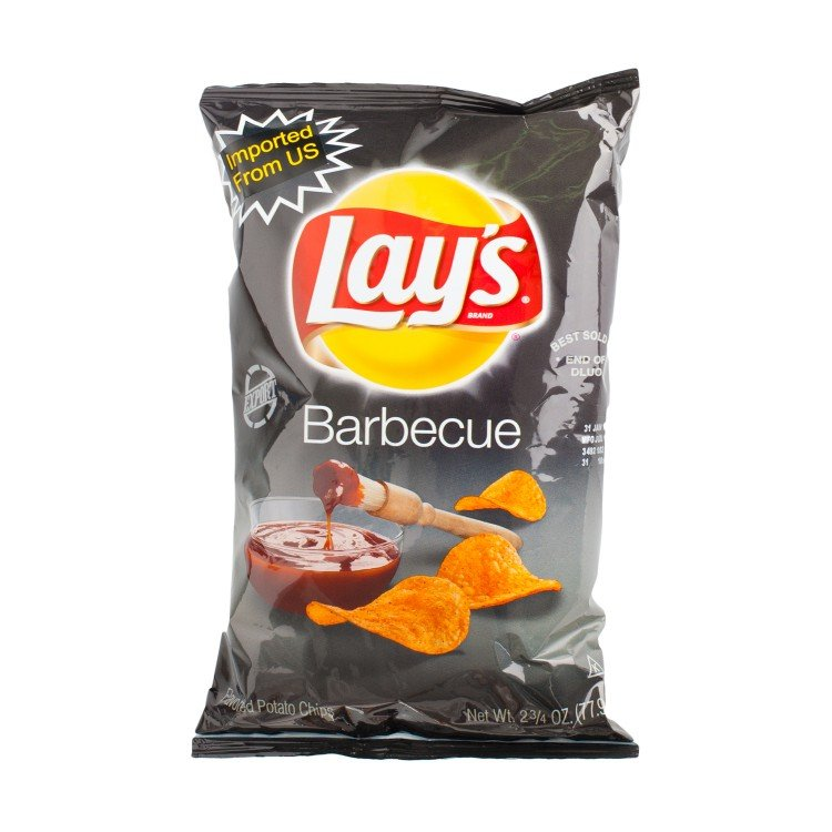 LAY'S - POTATO CHIPS-BARBECUE FLAVORED - 77.9G