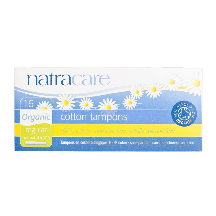 NATRACARE - TAMPONS WITH APPLICATOR-REGULAR - 16'S