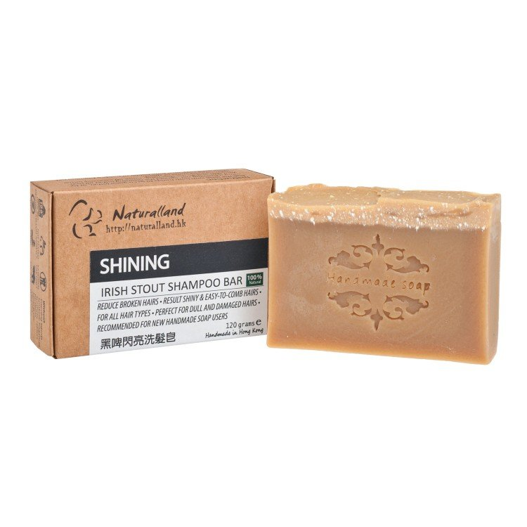 NATURALLAND - SHINING-IRISH STOUT HAND MADE SHAMPOO BAR - 110G