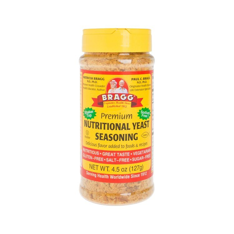 BRAGG - NUTRITIONAL YEAST-PREMIUM QUALITY SEASONING - 4.5OZ