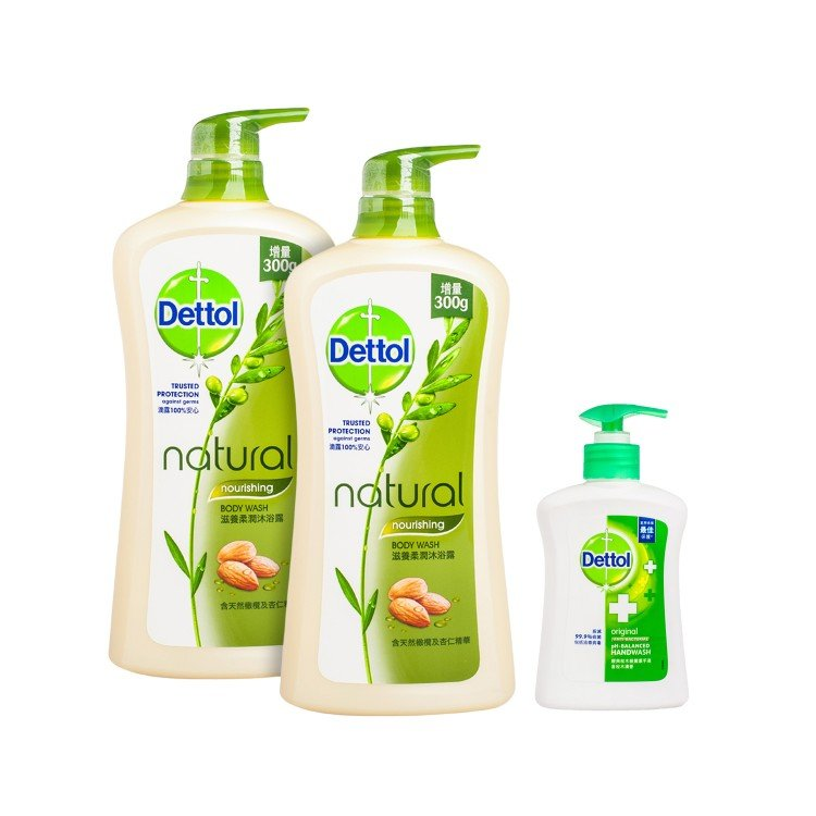 DETTOL - BODY WASH(TWINPACK WITH PREMIUM)-NOURISHING - SET