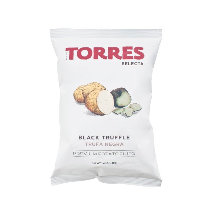 TORRES - BLACK TRUFFLE POTATO CHIPS - 40G