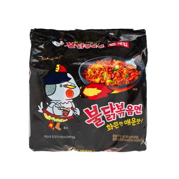 SAMYANG - HOT CHICKEN STIR RAMEN - 140GX5
