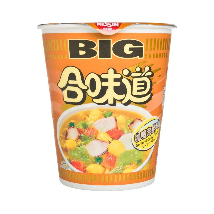 NISSIN - BIG CUP NOODLE-SEAFOOD CURRY - 101G