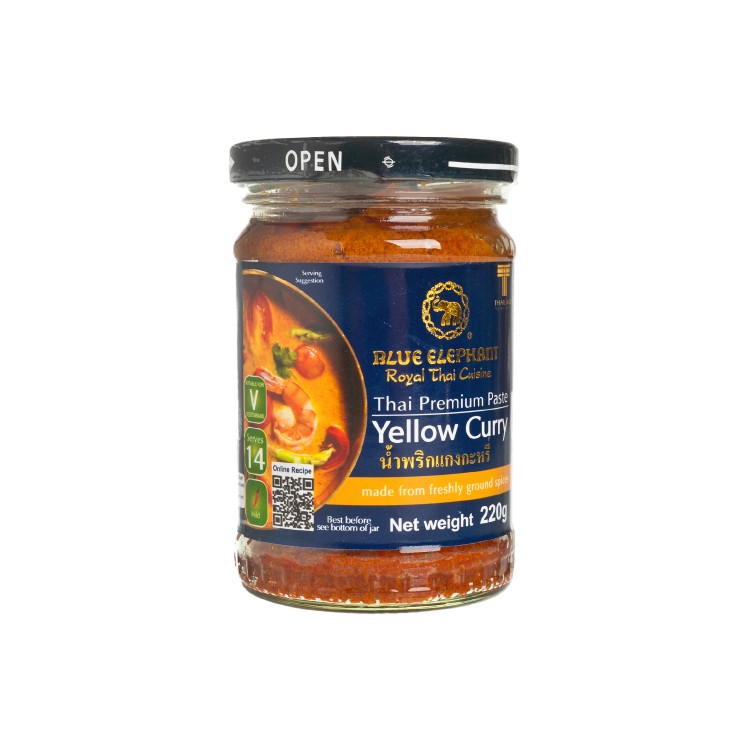 BLUE ELEPHANT - YELLOW CURRY PASTE - 220G