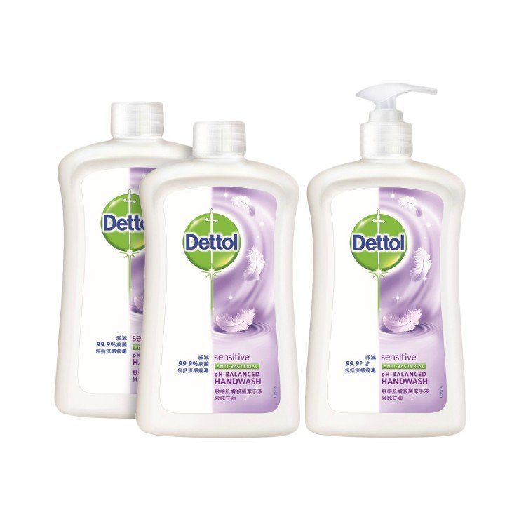 DETTOL - ANTI-BACTERIAL HANDWASH SENSITIVE(TWINPACK)  - 500GX3