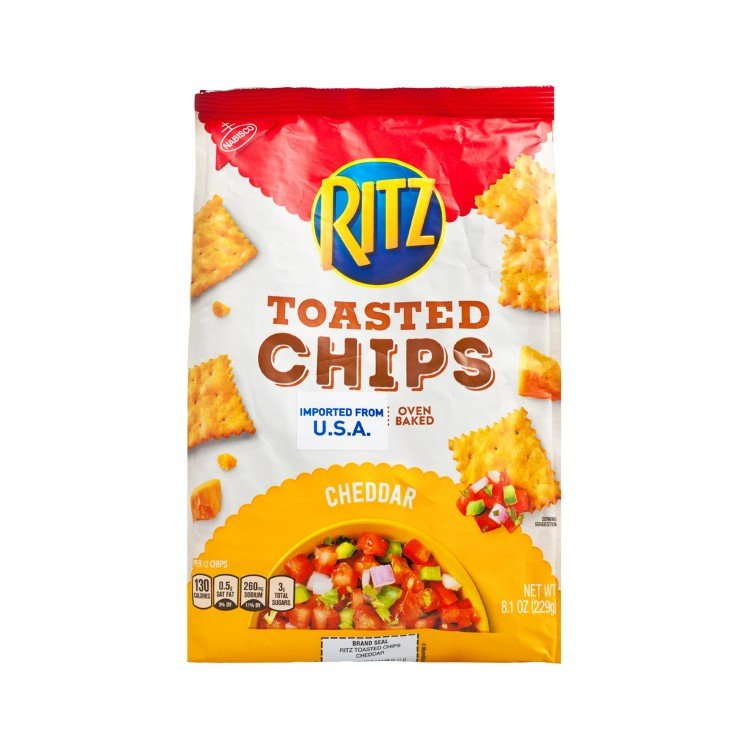 RITZ - TOASTED CHIPS-CHEDDAR - 229G