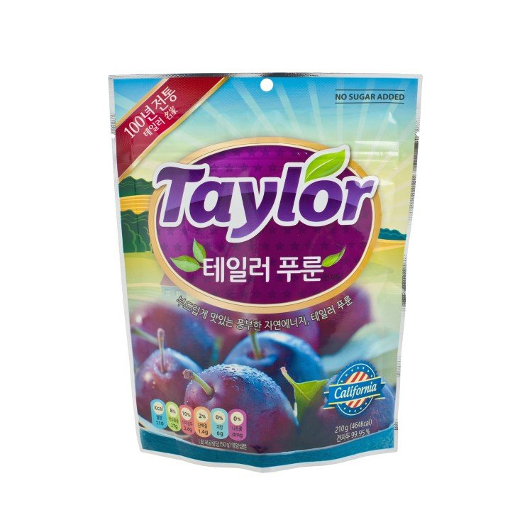 TAYLOR - CONVENTIONAL PITTED PRUNE - 210G